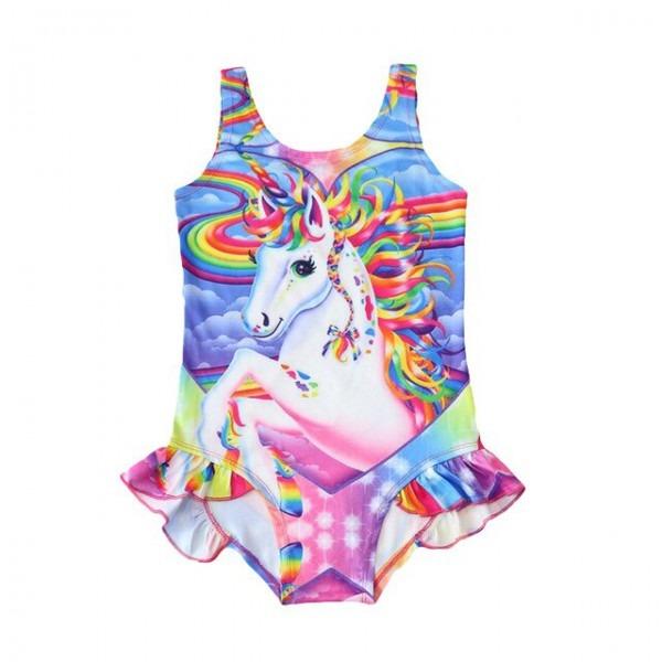 Kids Swimwear Baby Girls Swimsuit Hot Unicorn One Piece Children's
