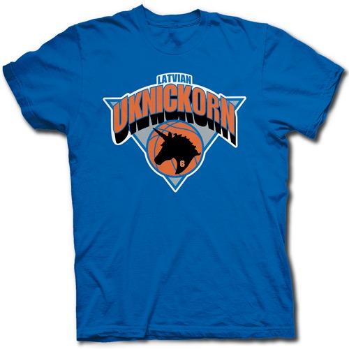 Kristaps Porzingis New York Knicks Fan Unicorn T Shirt