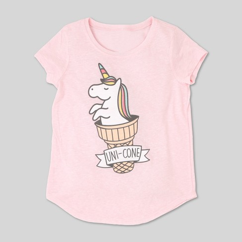 L O L  Vintage Girls' Unicorn Graphic Short Sleeve T