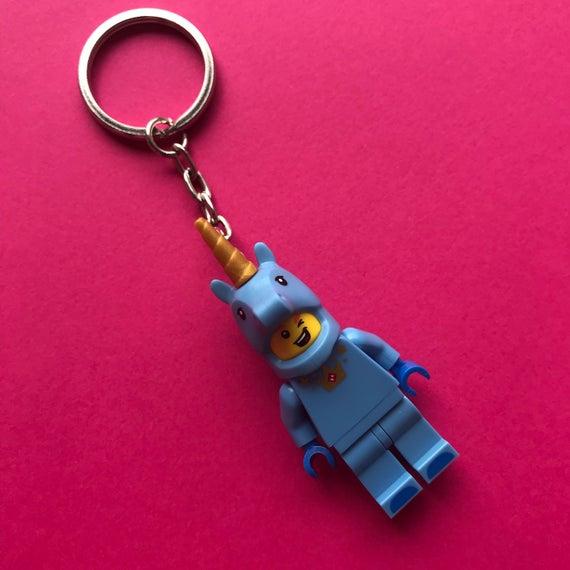 Lego Unicorn Minifigure Keychain   Keyring