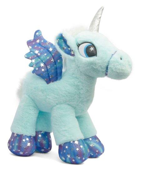 Linzy Toys Blue Pastel Unicorn Plush Toy