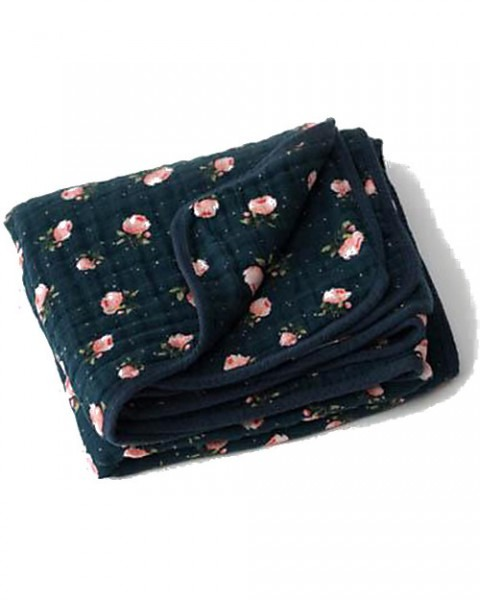 Little Unicorn Baby Quilt 120 X 120 Cm, Midnight Rose