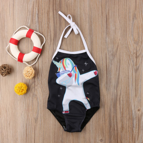 Lovely Unicorn Swimsuit Kid Baby Girl Bikini Set Dabbing Unicorn