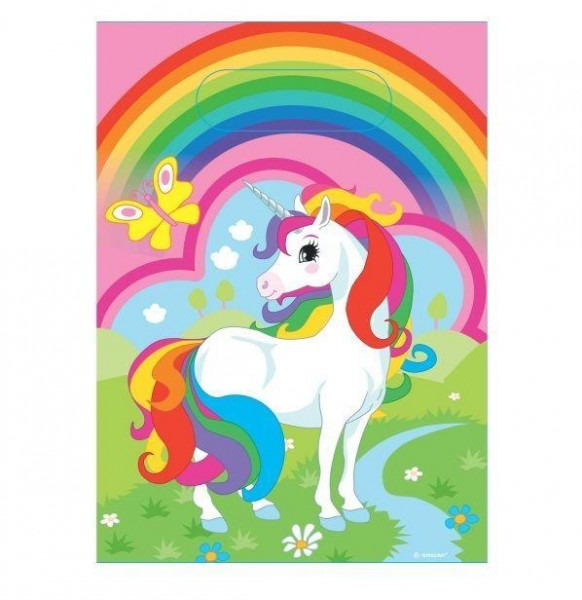 Magic Rainbow Unicorn Party Bags Loot Favour Treat Birthday X 8