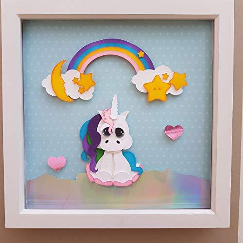 Magic Unicorn 3d Wall Decor  Amazon Co Uk  Handmade
