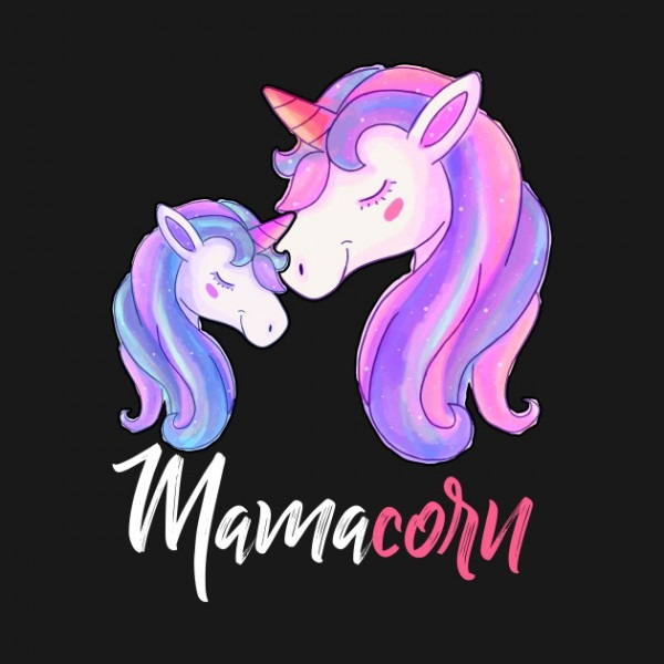 Mamacorn Unicorn Mom And Baby Mommy Mothers Day Shirt