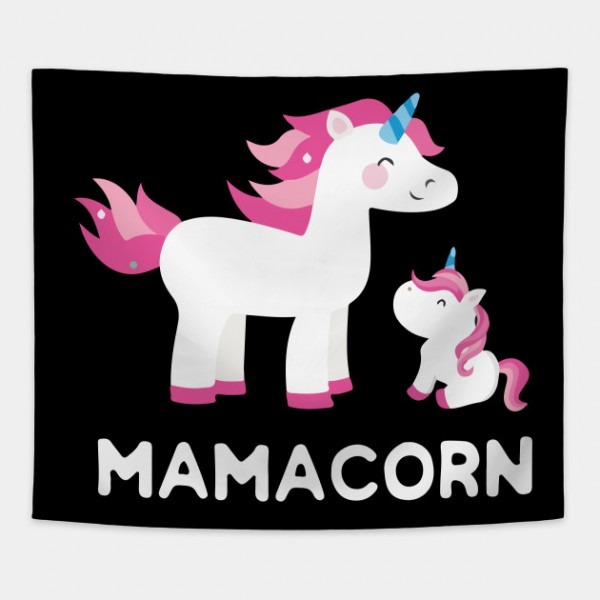 Mamacorn Unicorn Mom And Baby Mommy Mothers Day T