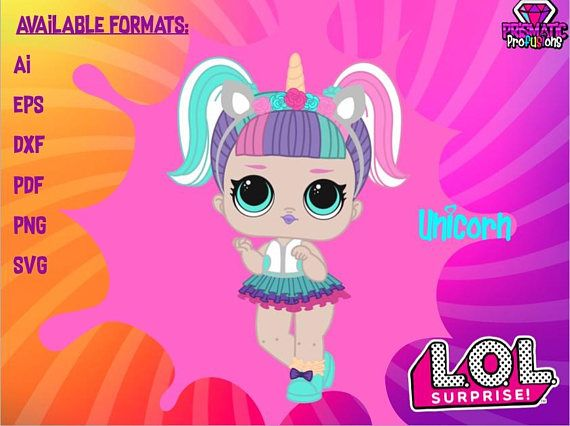 New Lol Surprise Unicorn Doll Svg   Birthday  Supplies