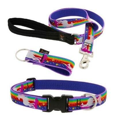 """New Lupine Pet 1"""" Or 3 4  Magic Unicorn Dog Collar Or Leash"""