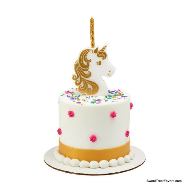 Npw Unicorn Candle Holder Birthday Cake Topper For Sale Online