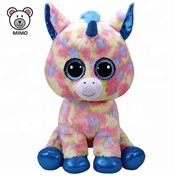 Oem Custom Colorful Rainbow Unicorn Plush Toy For Kids Wholesale