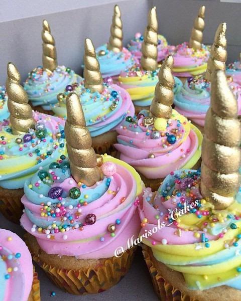 One Dozen Fondant Mini Unicorn Horns Made For Cupcakes! Each One