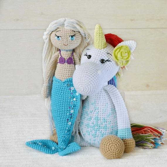 Personalised Unicorn White Rainbow Unicorn Stuff For Girls Large
