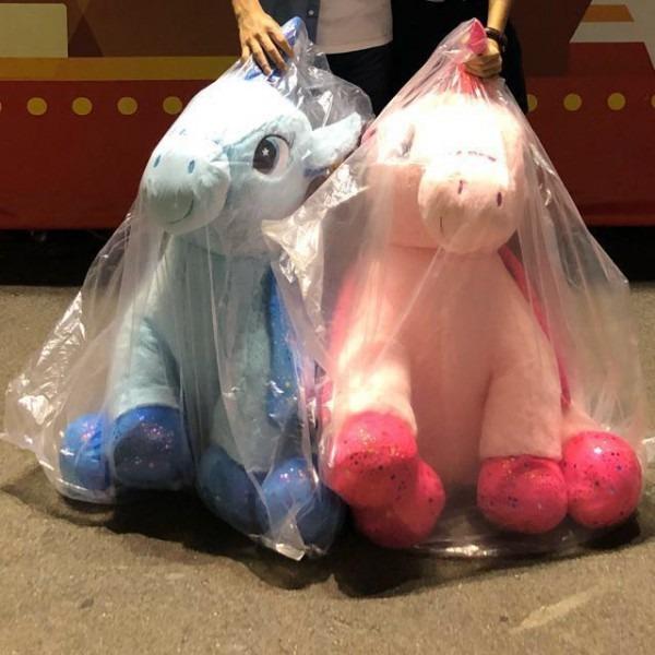Pink N Blue Unicorn Soft Toy Bnwt, Toys & Games, Bricks