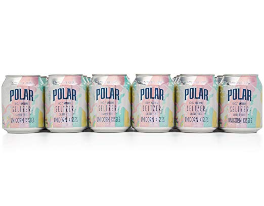 Polar 100  Natural Seltzer Jr Unicorn Kisses  24 X 8 Oz