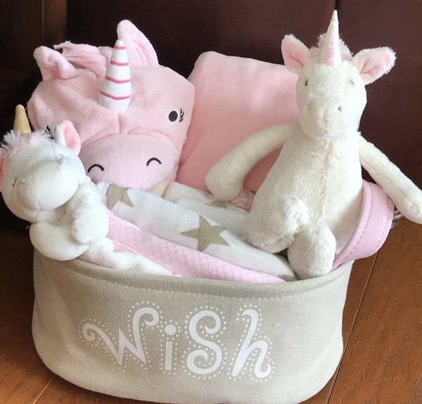 Poppy Unicorn Baby Gift Basket