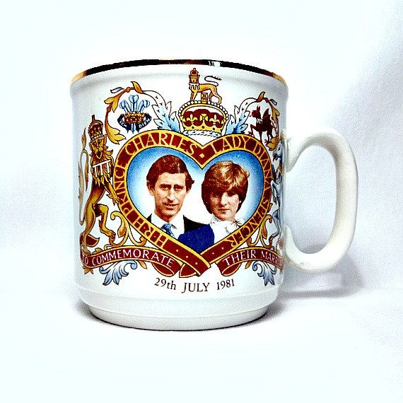 Prince Charles, 1981 Royal Wedding Mug, Lady Diana Spencer, Lion