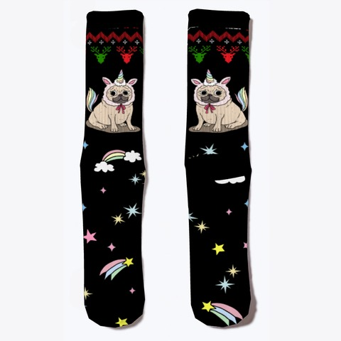 Pug Christmas Unicorn Lover Socks Products