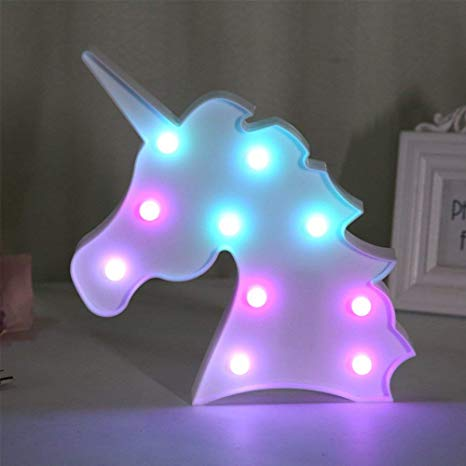 Qc Life Colorful Unicorn Led Light Night Lights Lamp Wall
