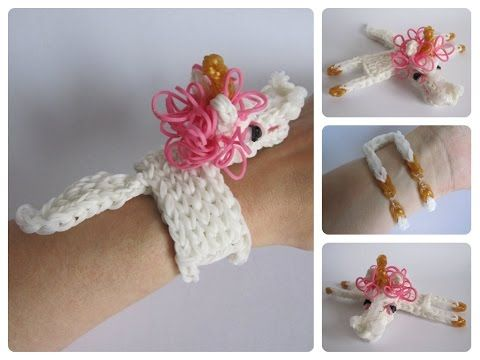 Rainbow Loom 3d Unicorn Horse Bracelet  Designed And Loomed By