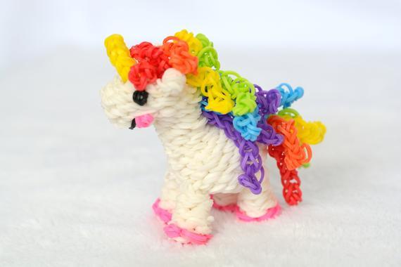 Rainbow Unicorn Happy Unicorn Loomigurumi Rainbow Loom