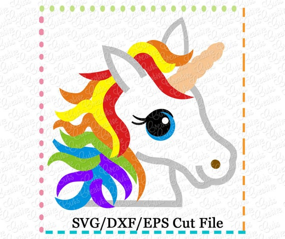 Rainbow Unicorn Svg Cutting File Unicorn Svg Pony Svg