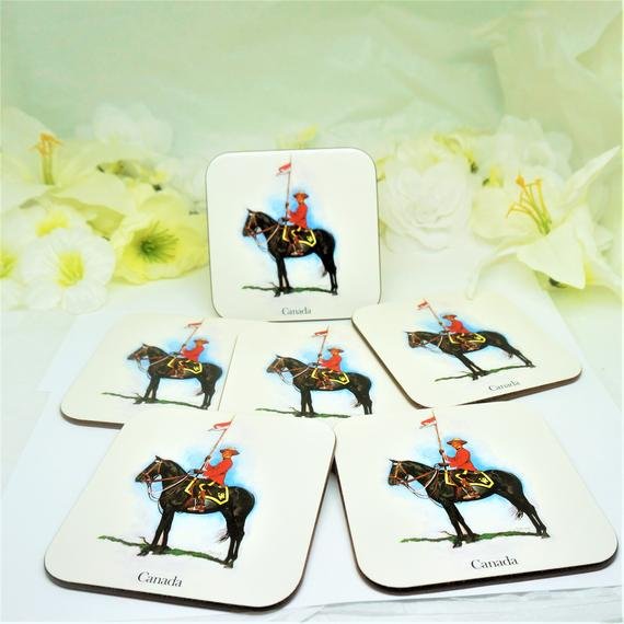 Rcmp Coasters Set Of 6 By Jason Products Auckland New