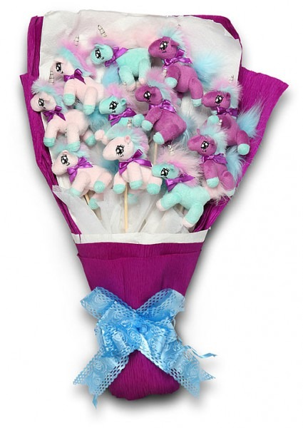 Rue The Day!a Plush Unicorn Bouquet For Your Sweetie