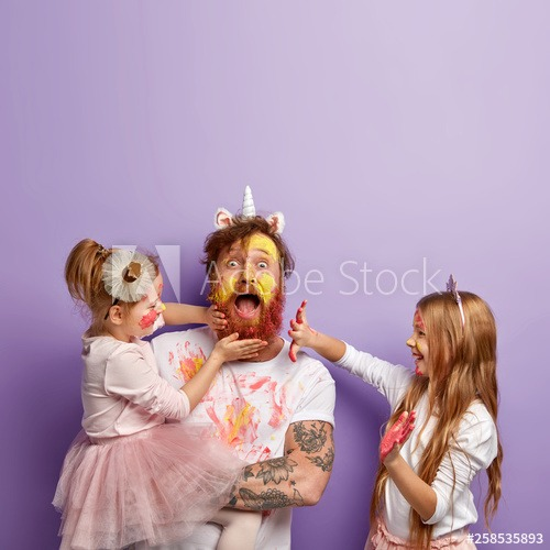 Shocked Dad Spends Free Time With Daughters, Dressed In Unicorn