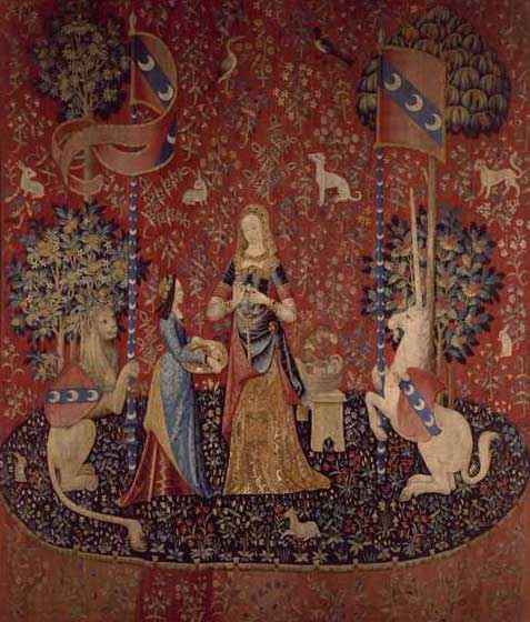 The Lady And The Unicorn And 'millefleurs' Style Tapestries