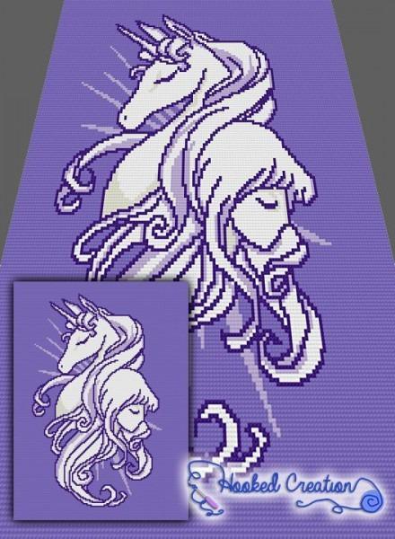 The Last Unicorn Mini C2c Twin Blanket Crochet Pattern