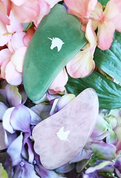 The Love Unicorn   Rose Quartz Gua Sha Massager