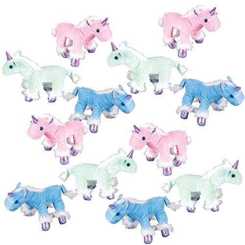 The Old Blue Door 12 Unicorn Plush Bulk Stuffed Animal Toys