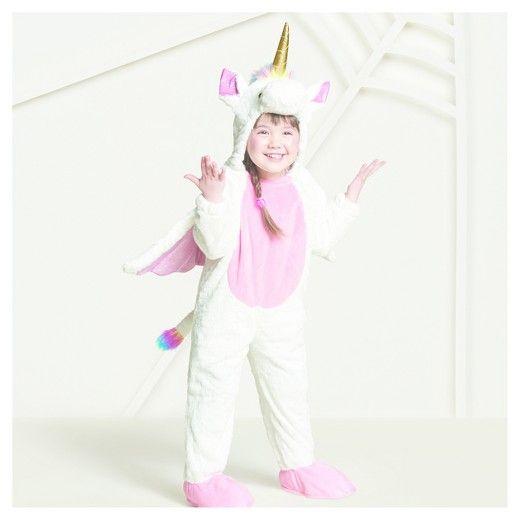 Toddler Plush Rainbow Unicorn Costume 2t
