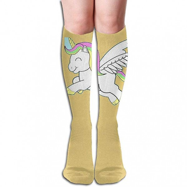 Tube High Keen Sock Boots Crew Flying Unicorn Compression Socks