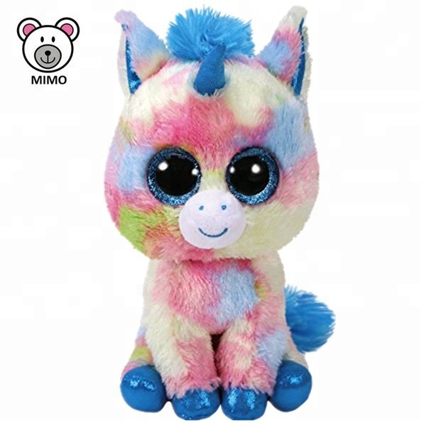 Ty Rainbow Unicorn Plush Toy With Horn Wholesale Cheap Custom Logo