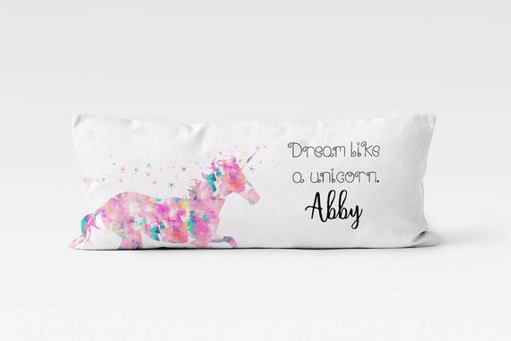 Unicorn Body Pillow Case Body Pillow Cover Personalized Body