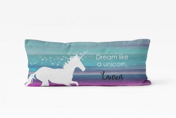 Unicorn Body Pillow Cover Body Pillow Case Personalized Body