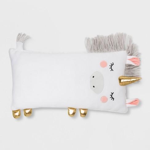 Unicorn Body Pillow White