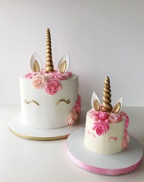 Unicorn Cake And Matching Smash Cake