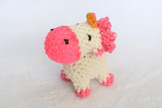 Unicorn Despicable Me Unicorn Loomigurumi Rainbow Loom