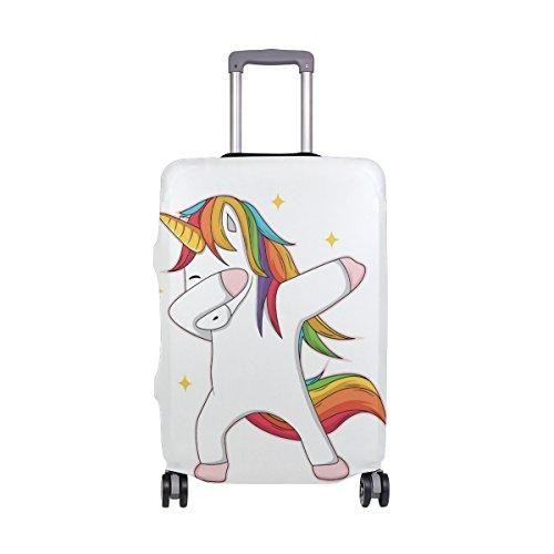 Unicorn Dubbing Suitcase Cover White