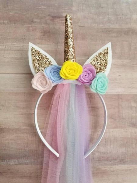 Unicorn Headband Birthday Unicorn Headbandunicorn Horn