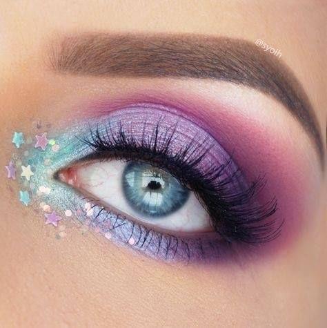 Unicorn Inspired Eye Makeup  Blueeyemakeup