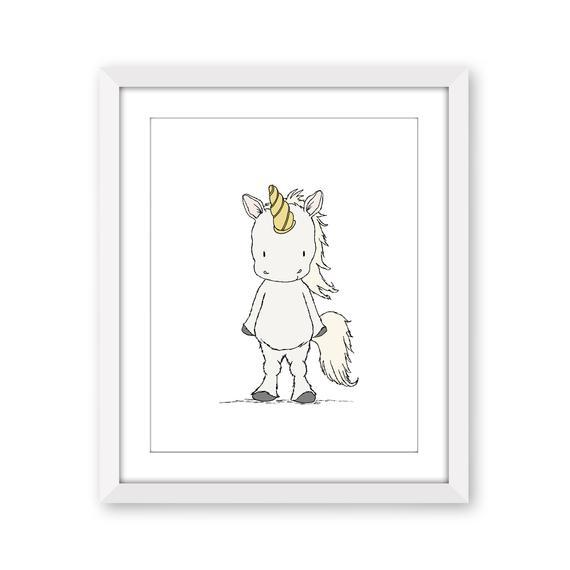 Unicorn Nursery Art Little Unicorn Unicorn Art Kids Wall
