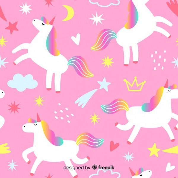 Unicorn Pattern Vector