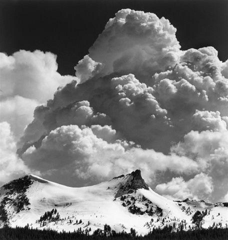 Unicorn Peak, Thunderclouds By Ansel Adams