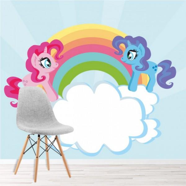 Unicorn Rainbow Wallpaper Wall Mural