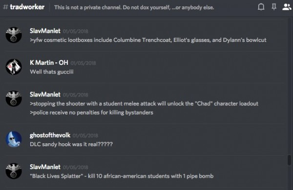 Unicorn Riot On Twitter   The 'tradworker' Discord, Active 1 17