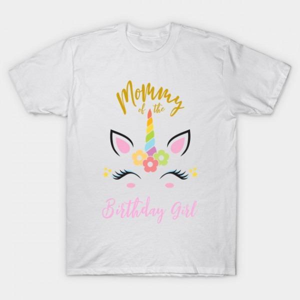 Unicorn Shirt For Mom Of Birthday Girl Tees